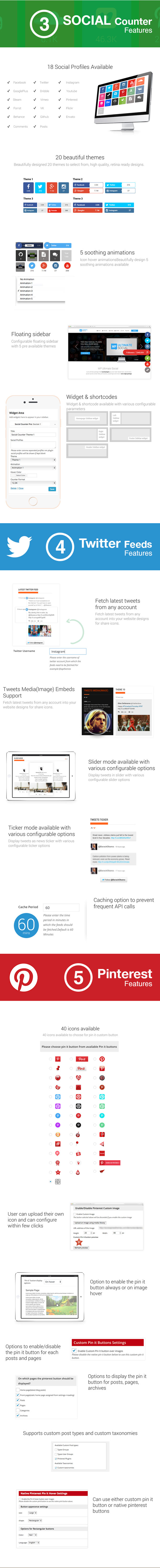 WP Ultimate Social - All in One Social Features' Collection WordPress Plugin - 2