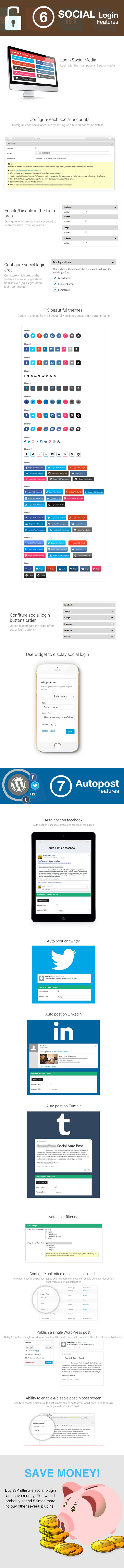 WP Ultimate Social - All in One Social Features' Collection WordPress Plugin - 3