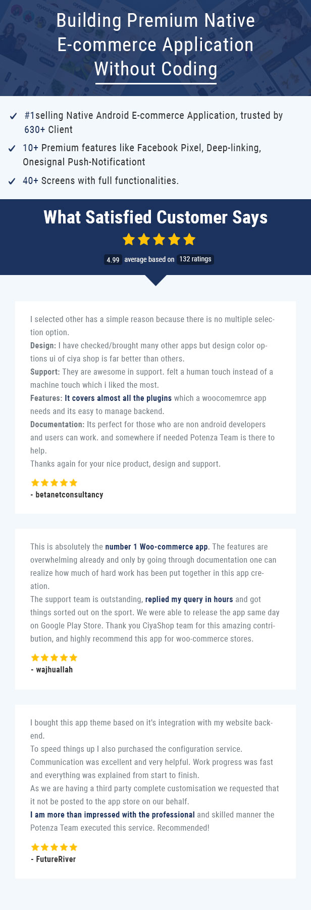 CiyaShop Native Android Application based on WooCommerce - 8