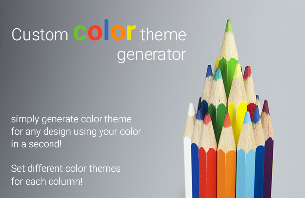 pricing table custom color theme generator