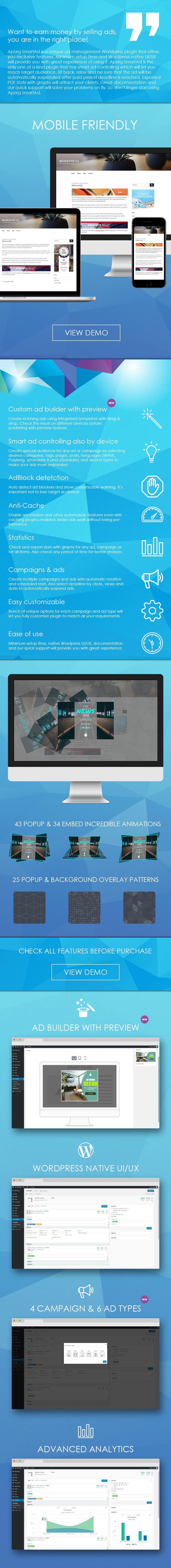 Aparg SmartAd Features