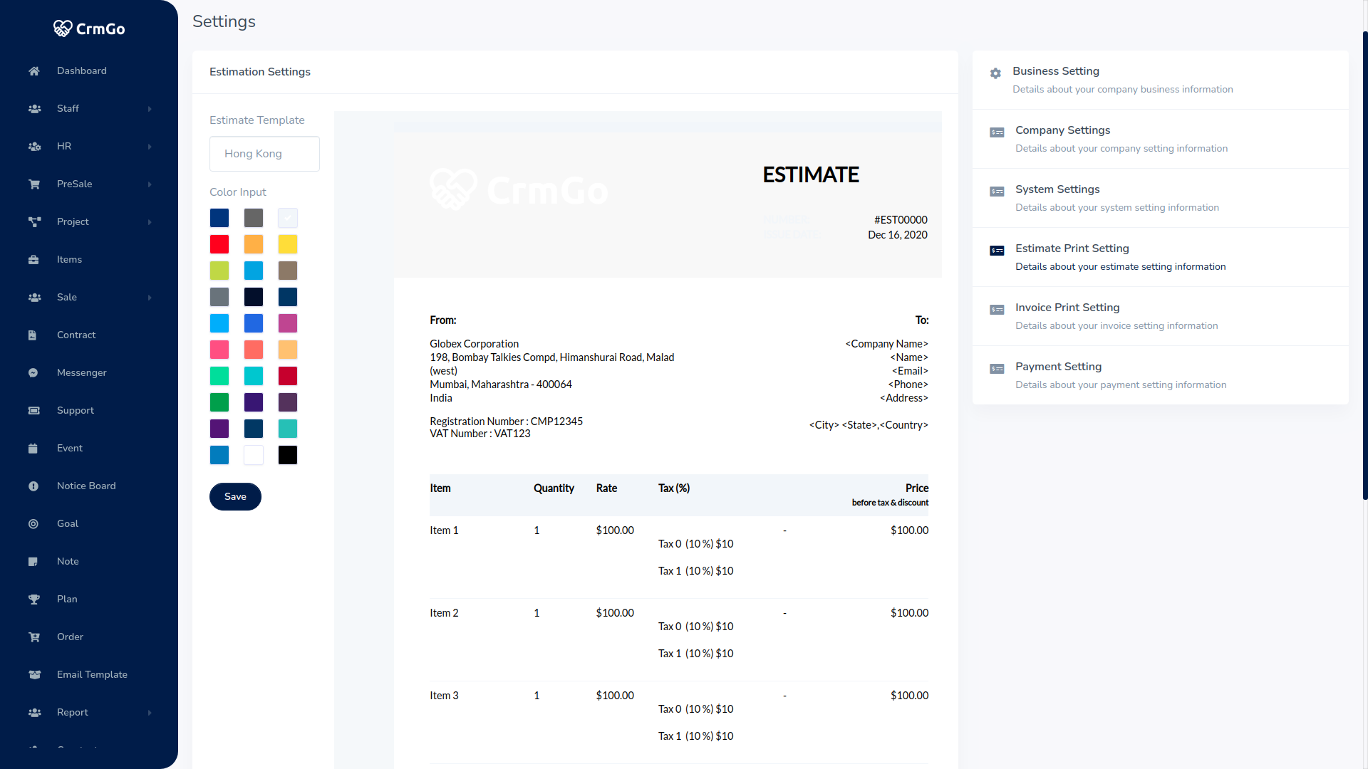 CRMGo SaaS - Projects, Accounting, Leads, Deals & HRM Tool - 18