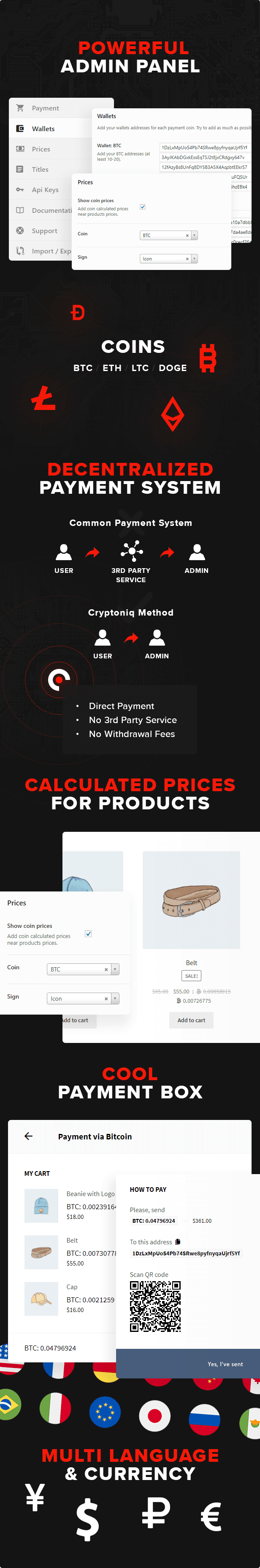Cryptoniq - Cryptocurrency Payment Plugin for WordPress - 4