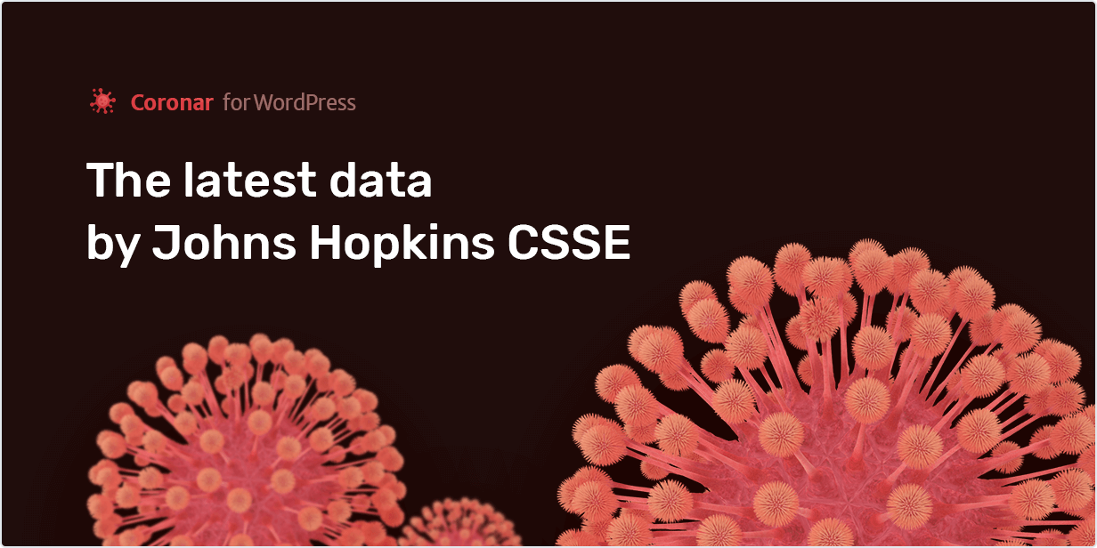 The latest data by Johns Hopkins CSSE