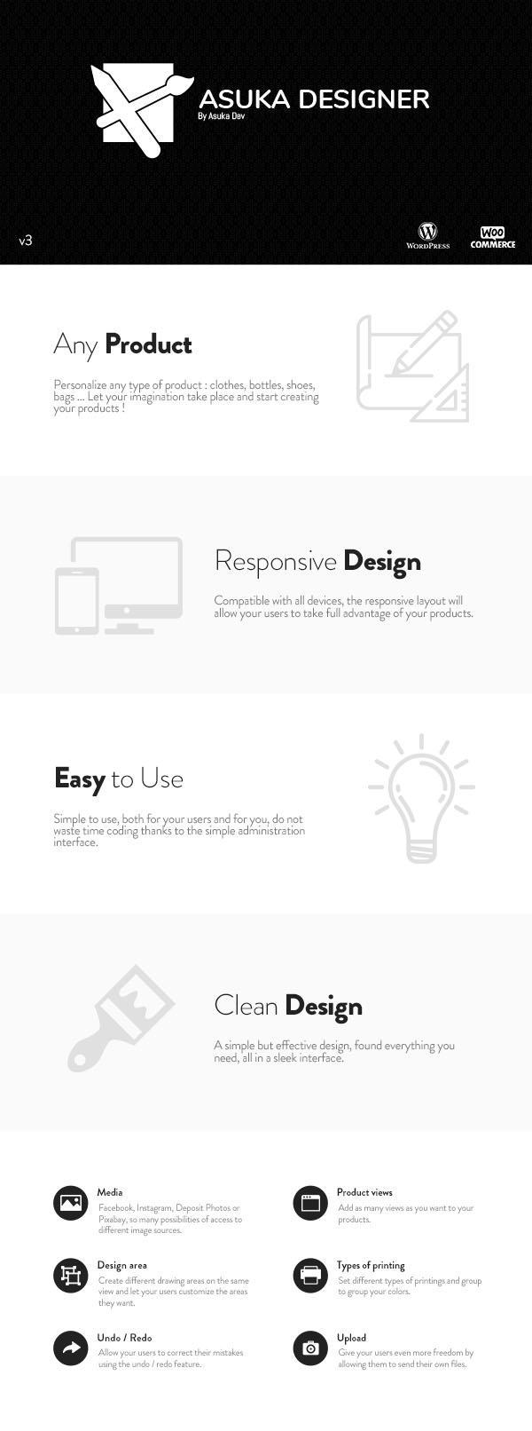 Asuka product designer - WooCommerce - 2