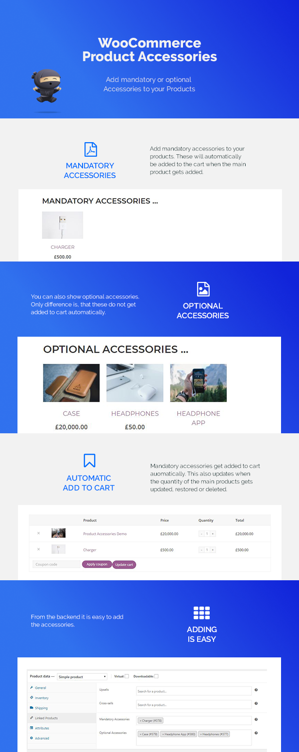 WooCommerce Product Accessories Features