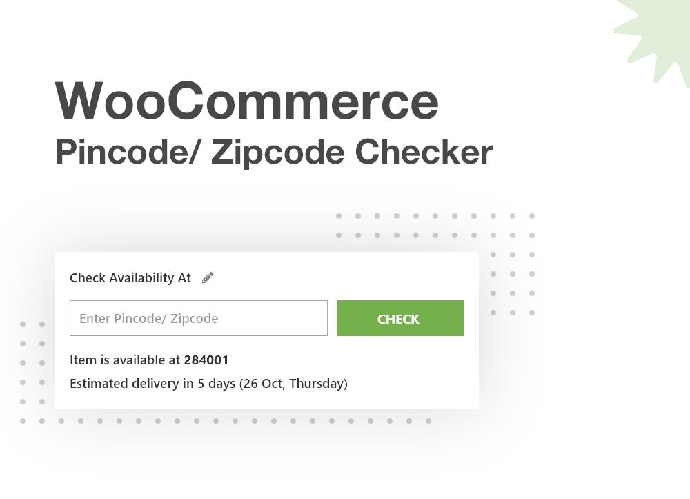 WooCommerce Pincode/ Zipcode Checker - 1