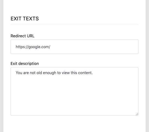 Elegant Age Verification Administration Interface – Localization – Example 5