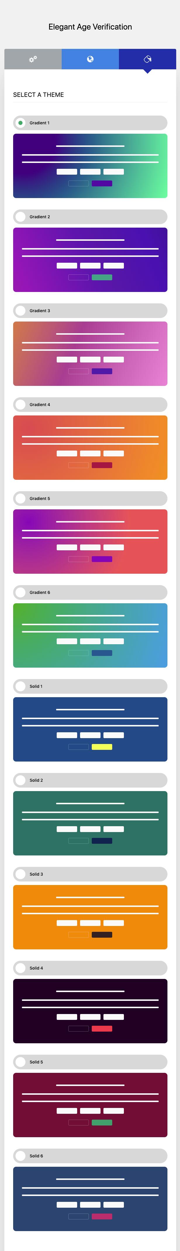 Elegant Age Verification Administration Interface – Style – Example 1