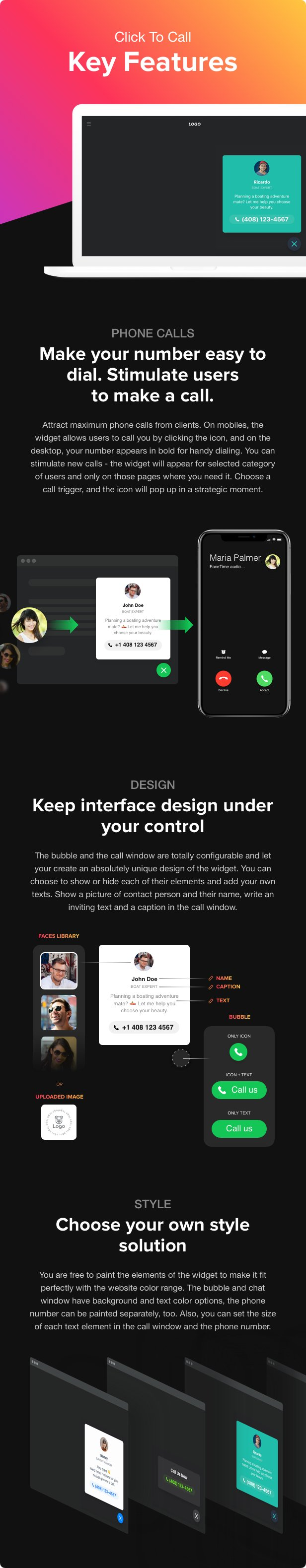 Click to Call - Call Button plugin for WordPress - 1