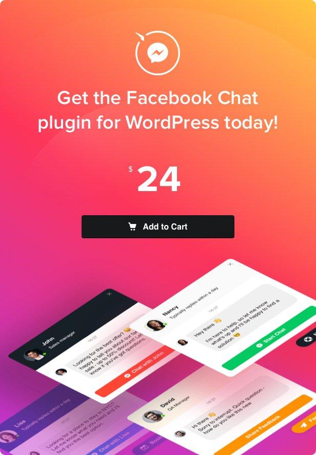 Facebook Chat - Facebook Messenger for WordPress - 4