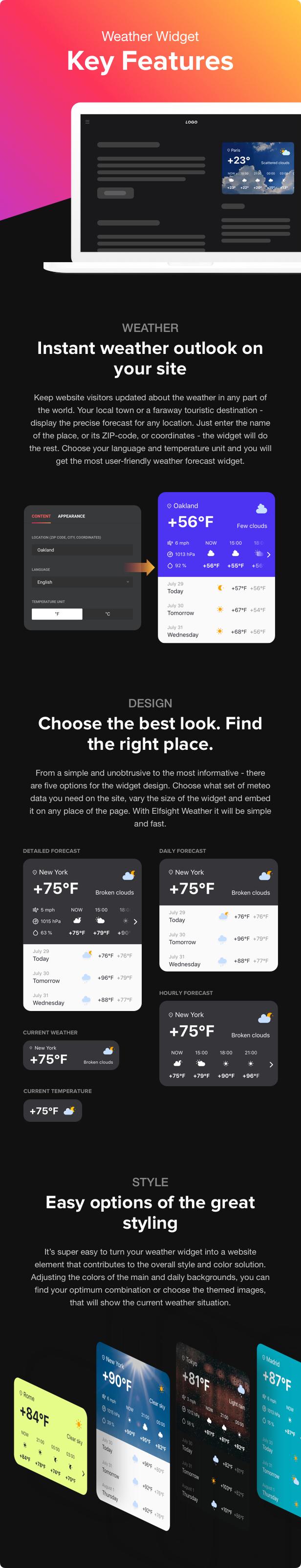 Weather Forecast - WordPress Weather Plugin - 1
