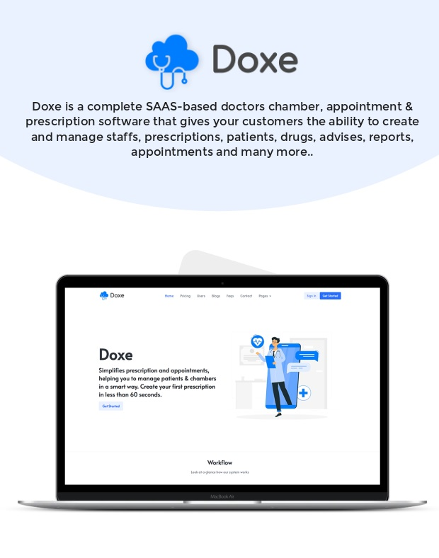 Doxe - SaaS Doctors Chamber, Prescription & Appointment Software - 2