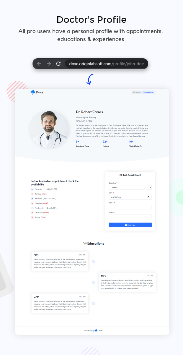 Doxe - SaaS Doctors Chamber, Prescription & Appointment Software - 9