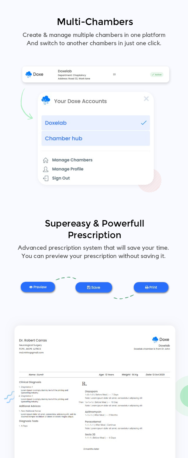 Doxe - SaaS Doctors Chamber, Prescription & Appointment Software - 10