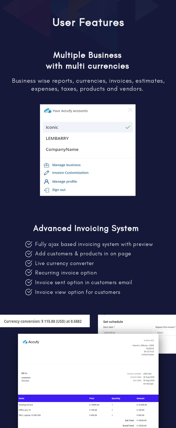 Accufy - SaaS Business & Accounting Software - 9