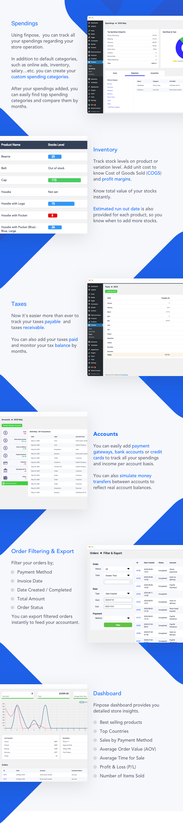 Finpose - Accounting for WooCommerce - 1