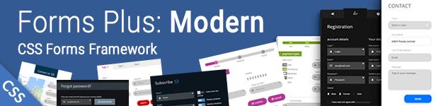 Forms Plus: Modern - CSS Form Framework