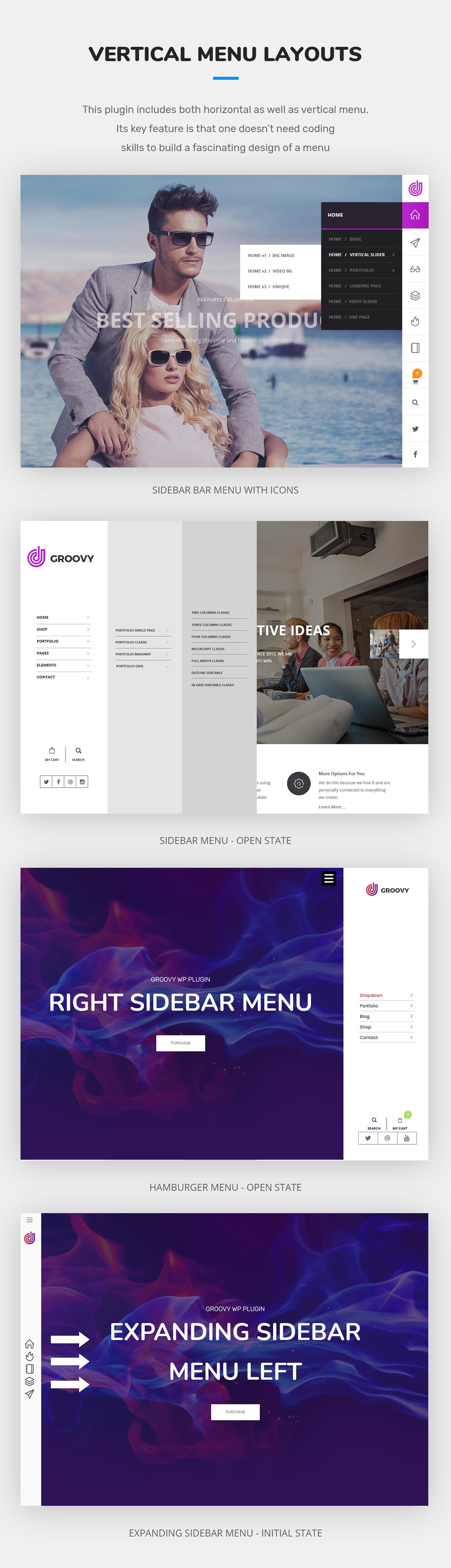 vertical mega menu