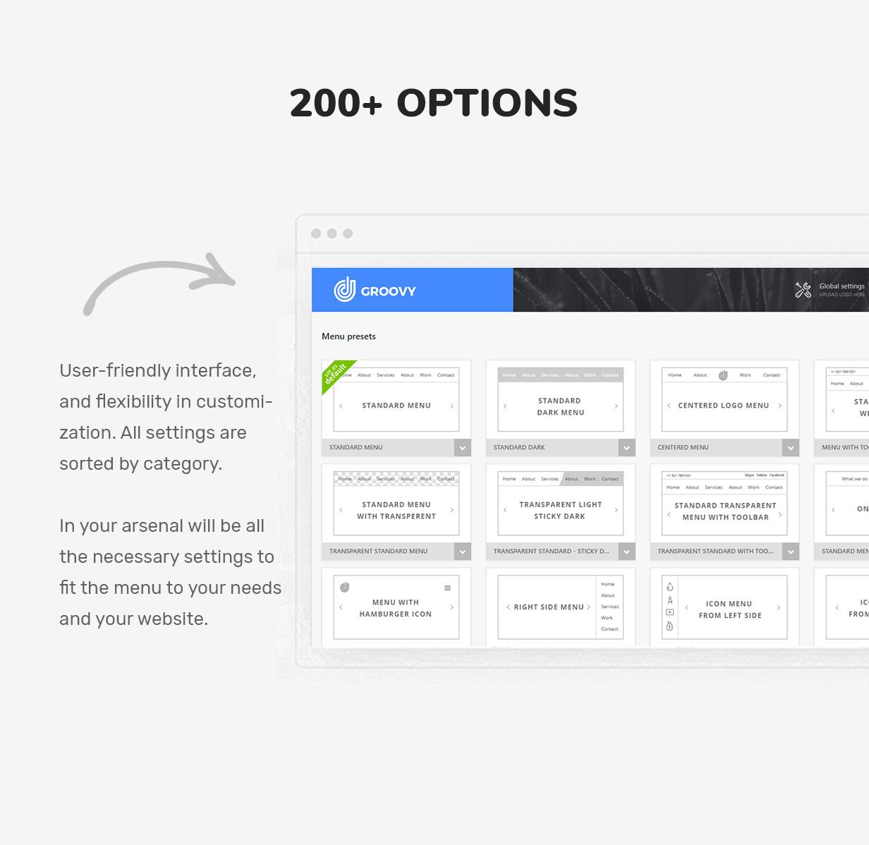 200 settings