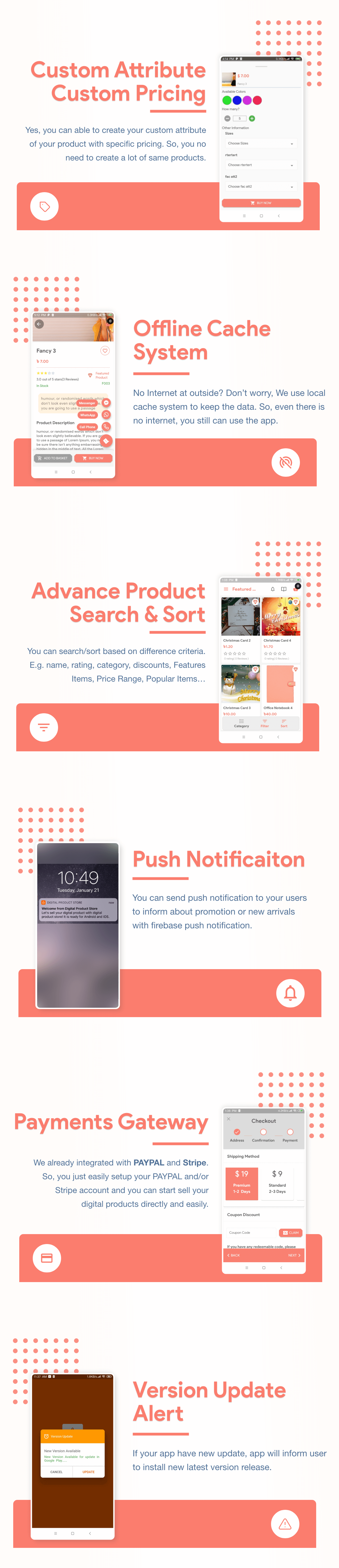 Flutter Store ( Ecommerce Mobile App for iOS & Android with same backend ) 1.7 - 7