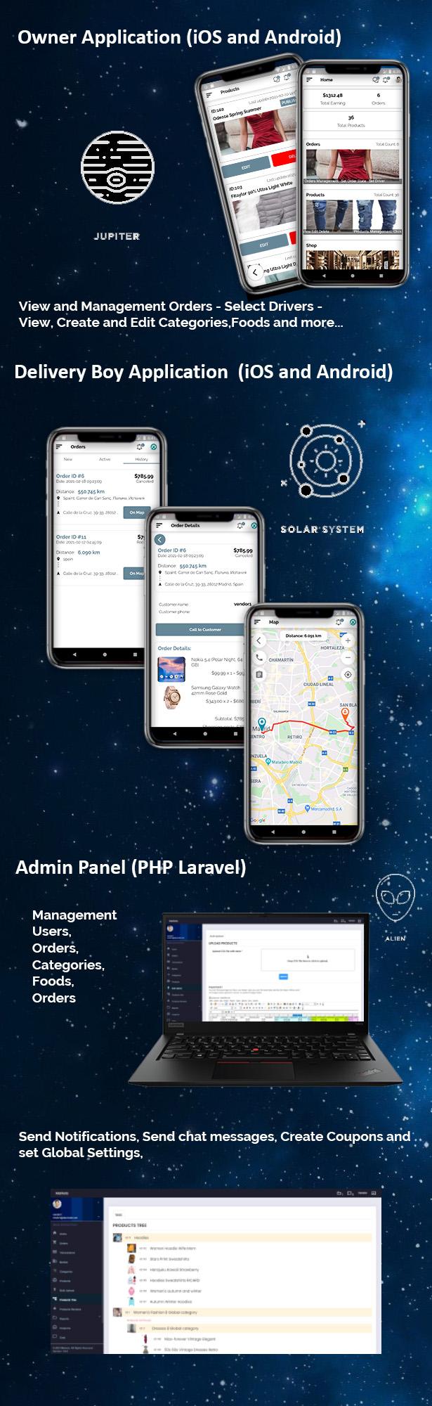 Flutter E-commerce Multi Vendor Marketplace Solution with Web Site (3Apps+PHP Admin Panel+Web Site) - 3