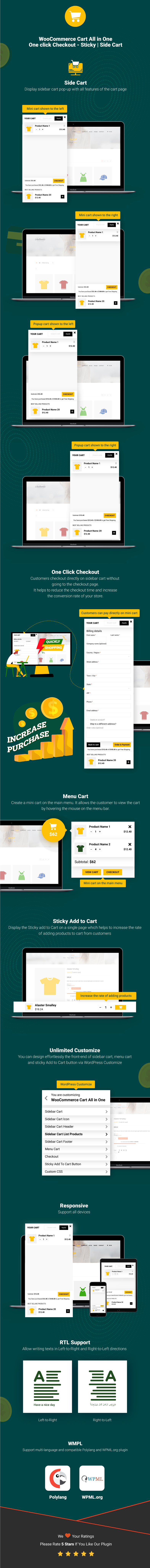 Inforgraphic WooCommerce Cart All in One