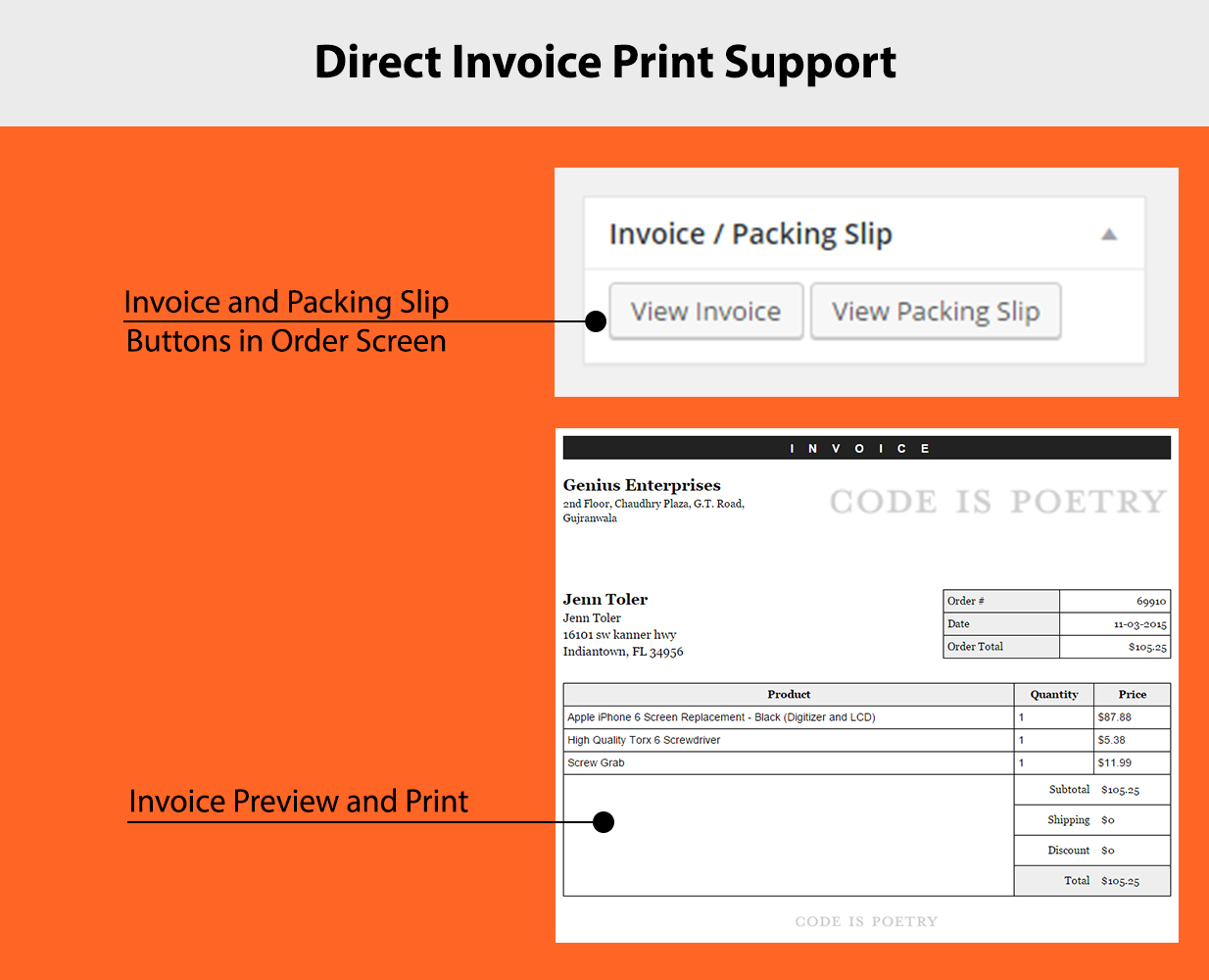 Invoice Print and Format