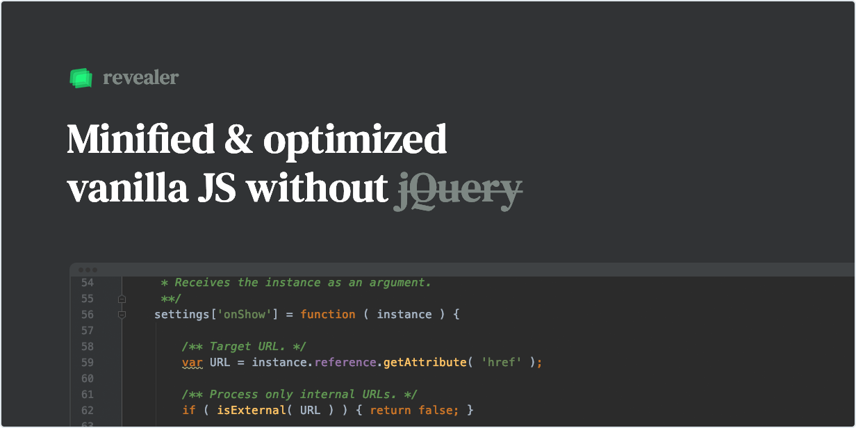 Minified & optimized native JS without jQuery