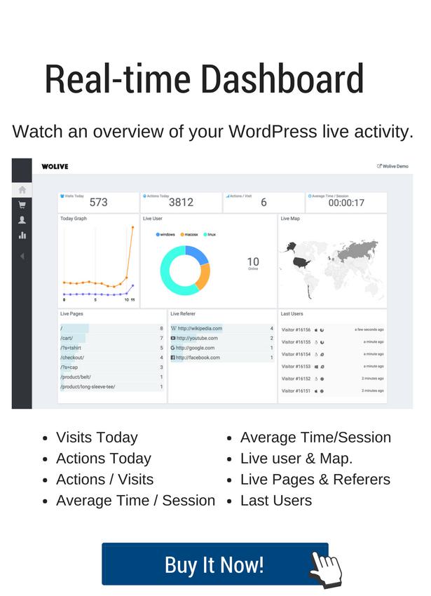 Wolive - Visitor Tracker Analytics Plugin for WordPress & WooCommerce - 5