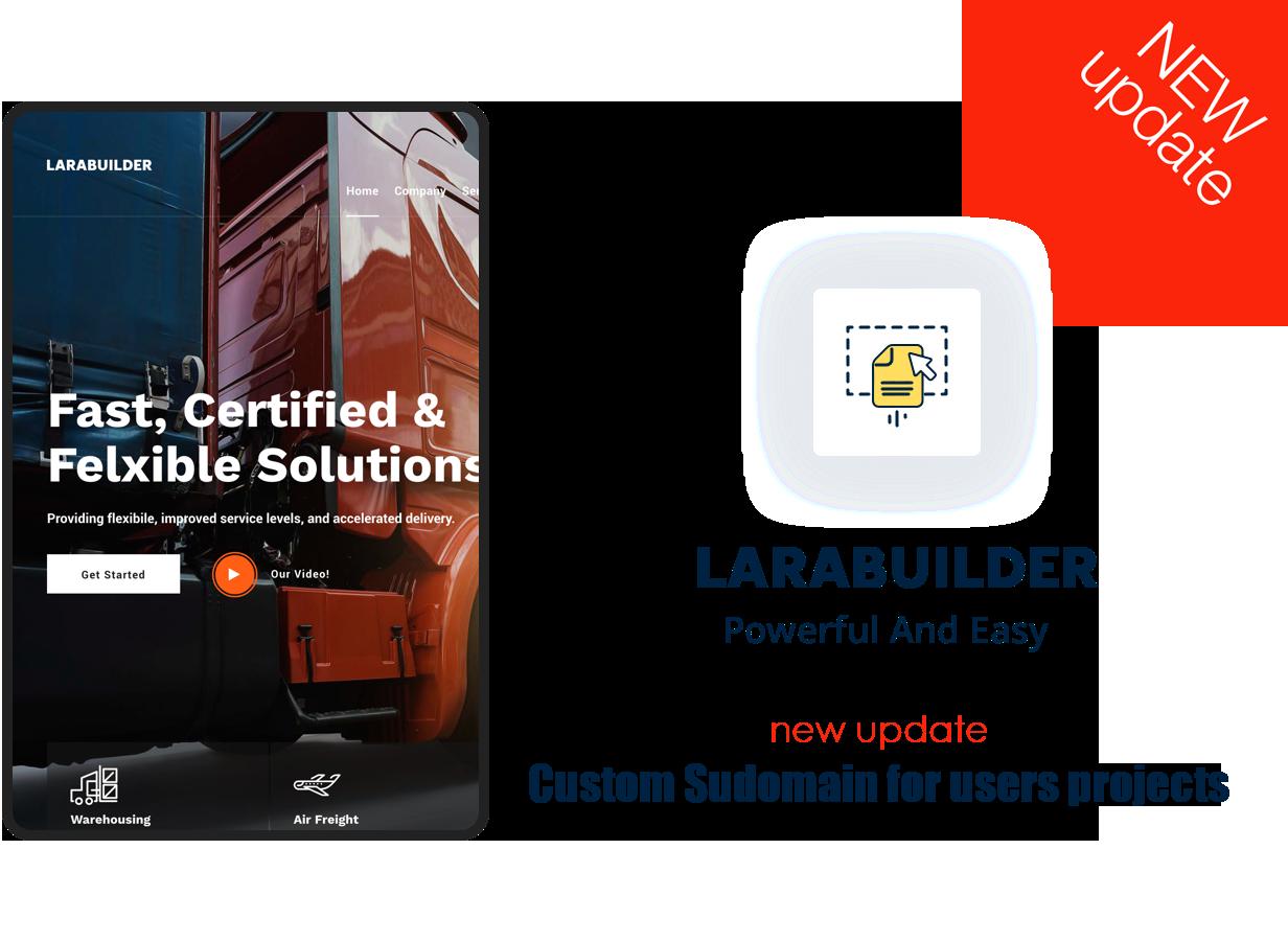 LaraBuilder - Laravel Drag&Drop SaaS HTML site builder - 1