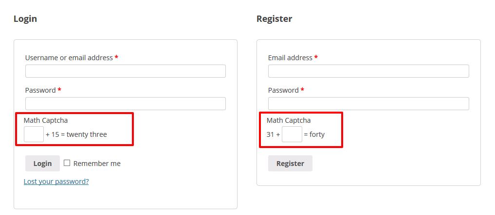 Math Captcha for WooCommerce - 3