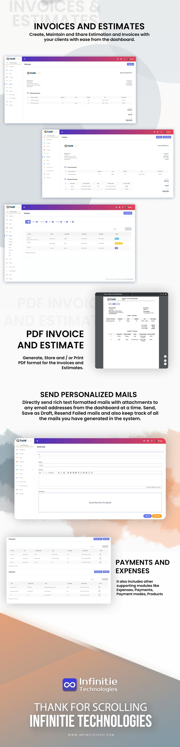 6 - finance-invoices-estimates-payments-expenses-mails - Taskhub SaaS - v1.0