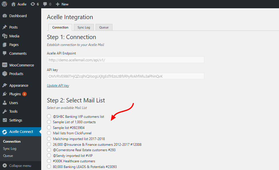 Acelle Connect - WordPress Plugin for Acelle Mail - 4