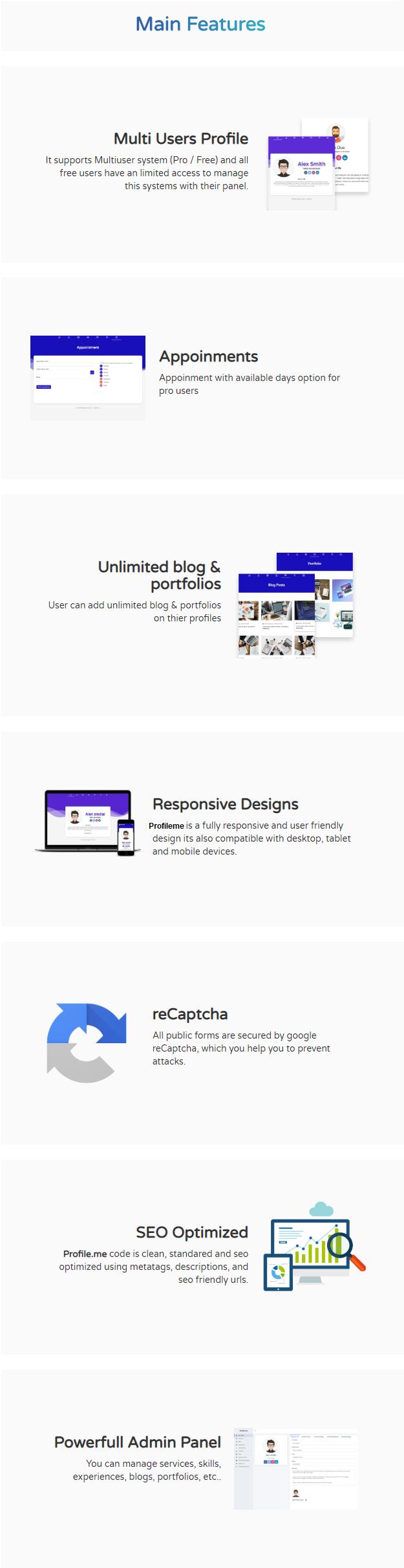 Profile.me - Saas Multiuser Profile Resume & Vcard Script - 5