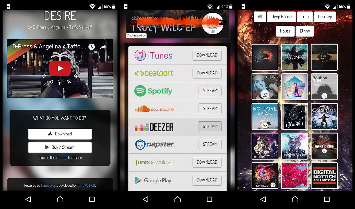 TuneVoyage - Smart Links & Follow To Download (Spotify/YouTube/Deezer/Soundcloud/Mixcloud) - 3