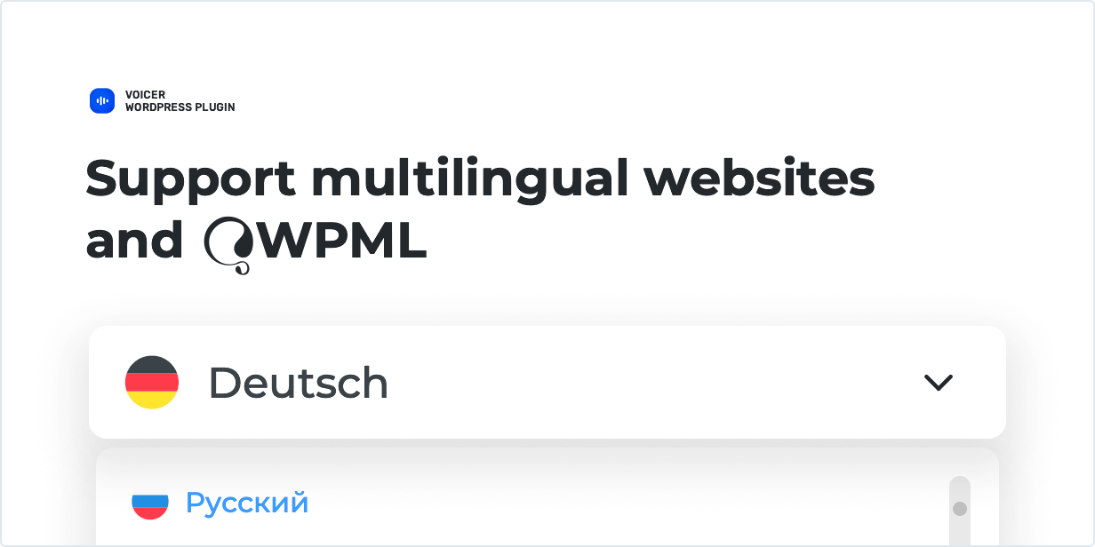 Support multilingual websites and WPML
