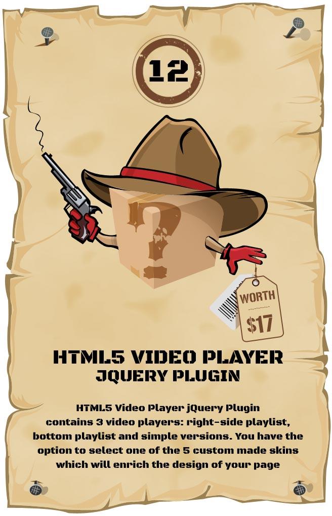 HTML5 Video Player Responsive Plugin