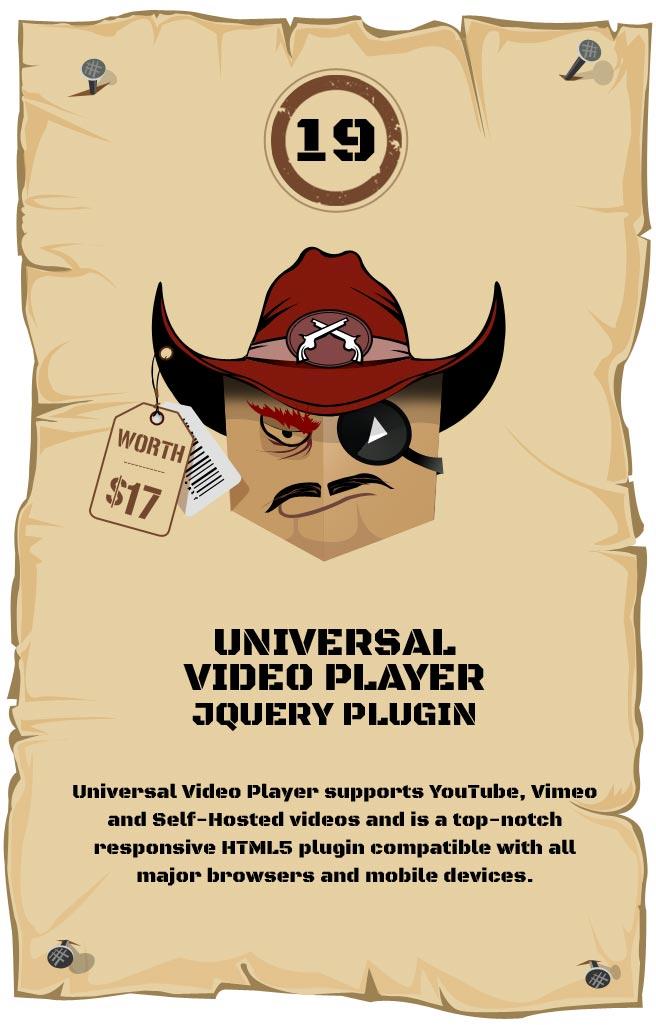 Universal Video Player - Responsive Plugin