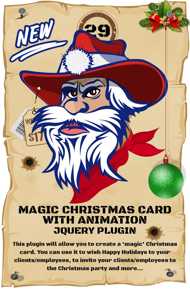 Most Wanted Jquery Plugins Pack - Magic Christmas Card With Animation jQuery Plugin