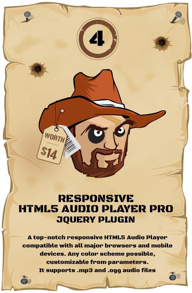 Responsive HTML5 Audio Player PRO Responsive Plugin