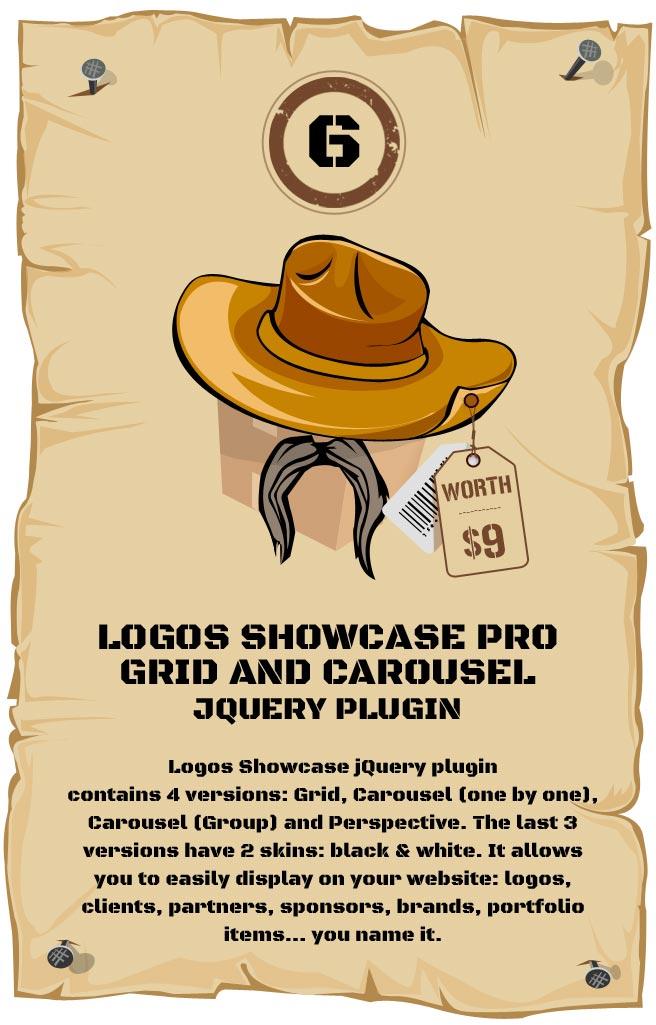 Responsive Logos Showcase - Grid and Carousel