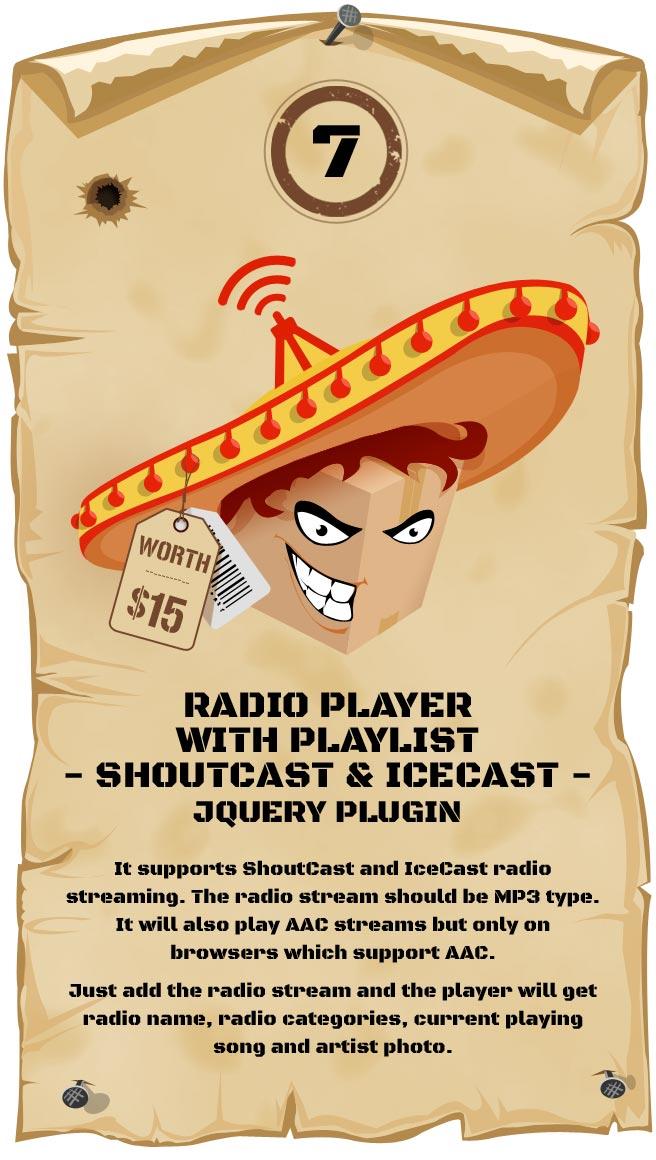 Radio Player Shoutcast & Icecast Responsive Plugin