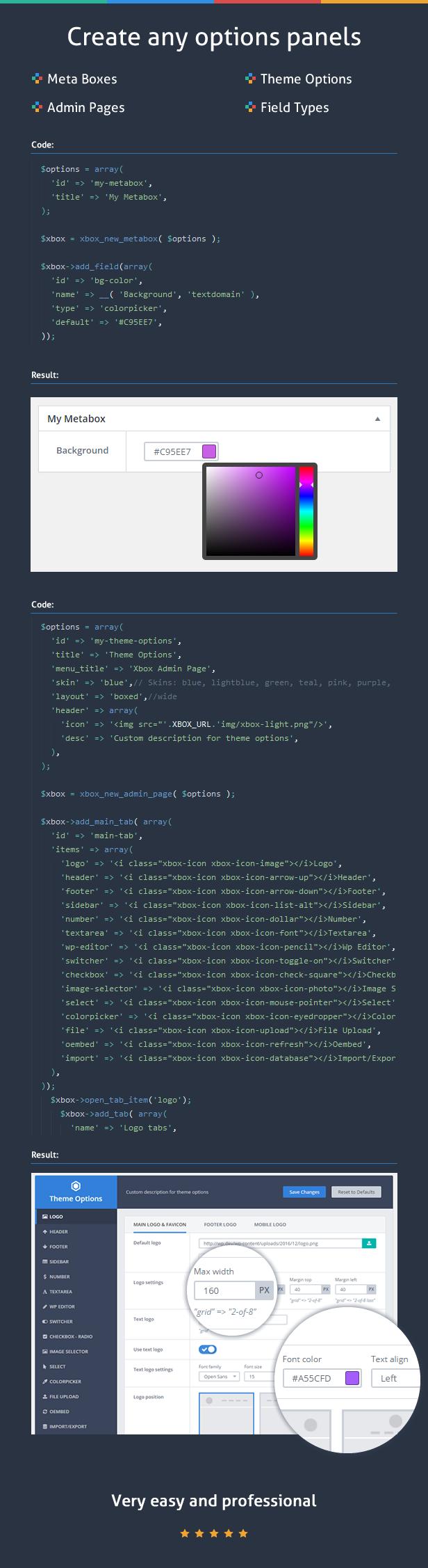 Custom Fields & Options Plugin for WordPress - Xbox Framework - 4