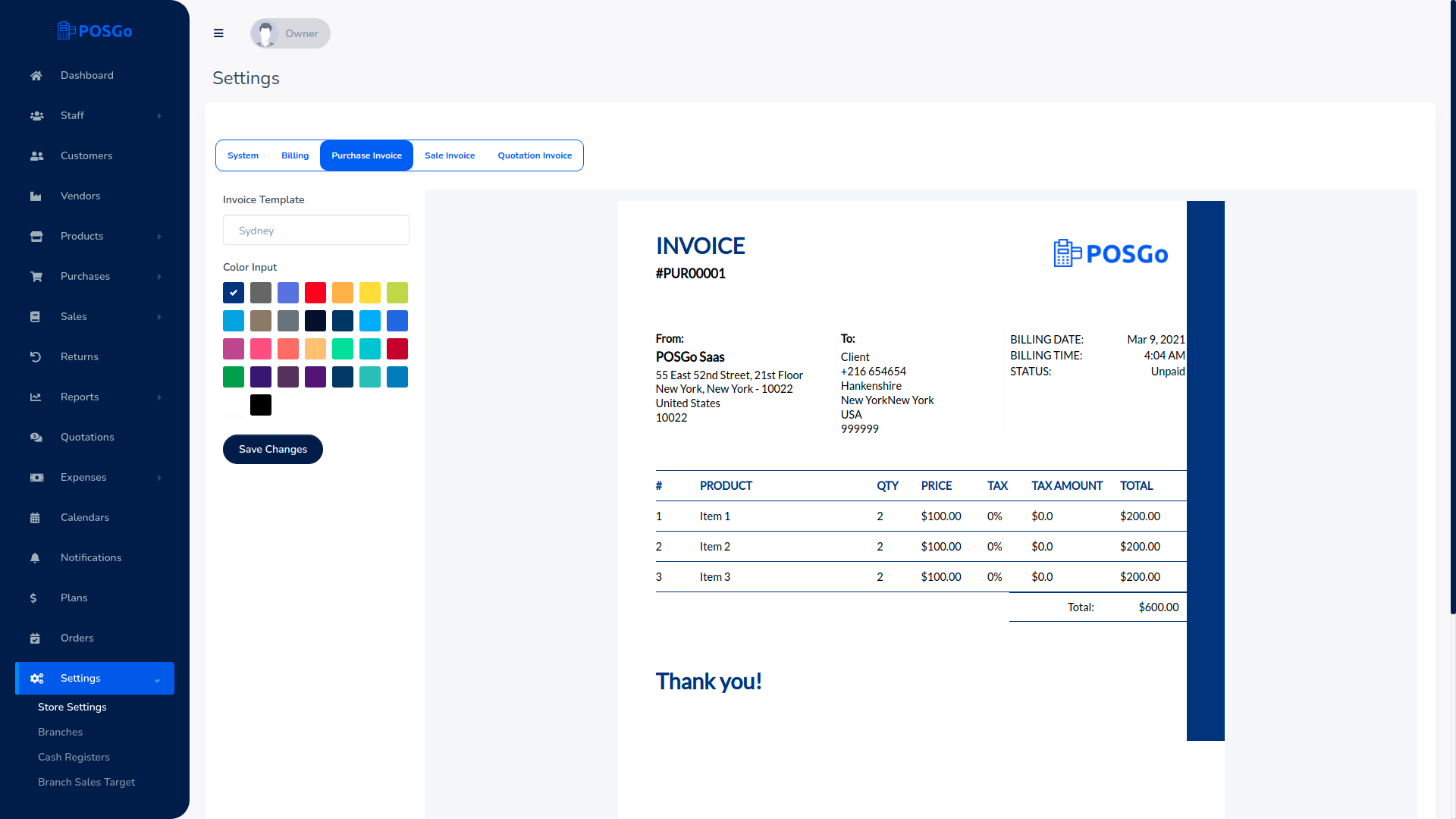 POSGo SaaS - Purchase and Sales Management Tool - 12