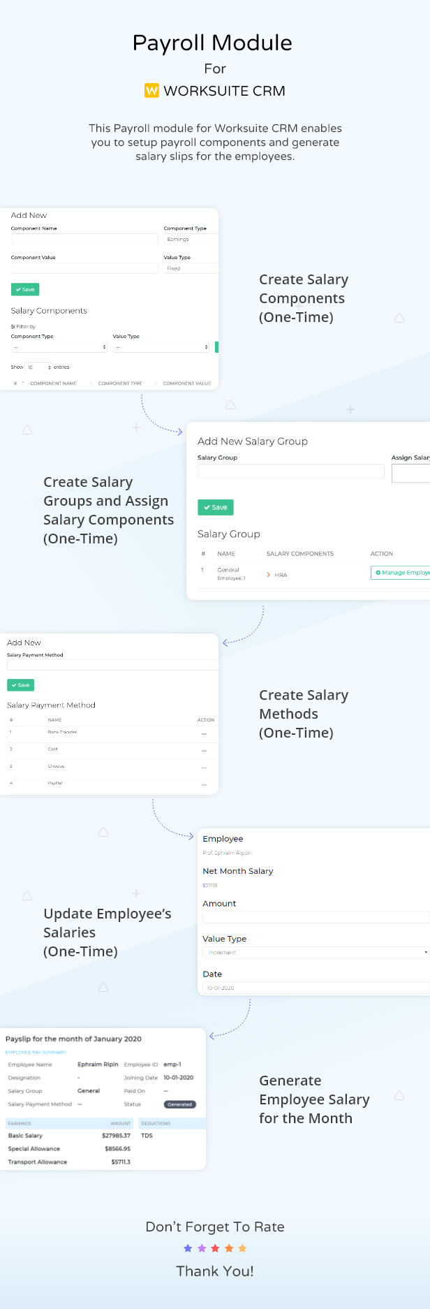 Payroll Module For Worksuite SAAS - 3