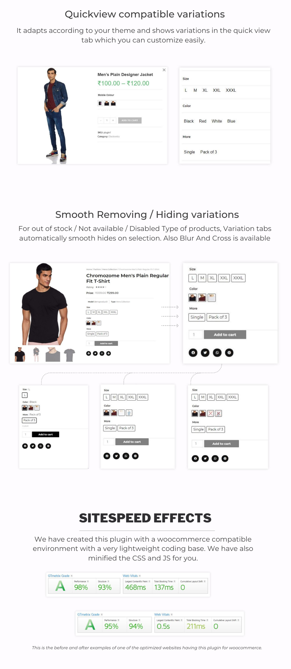 WordPress additional variations and swatches images