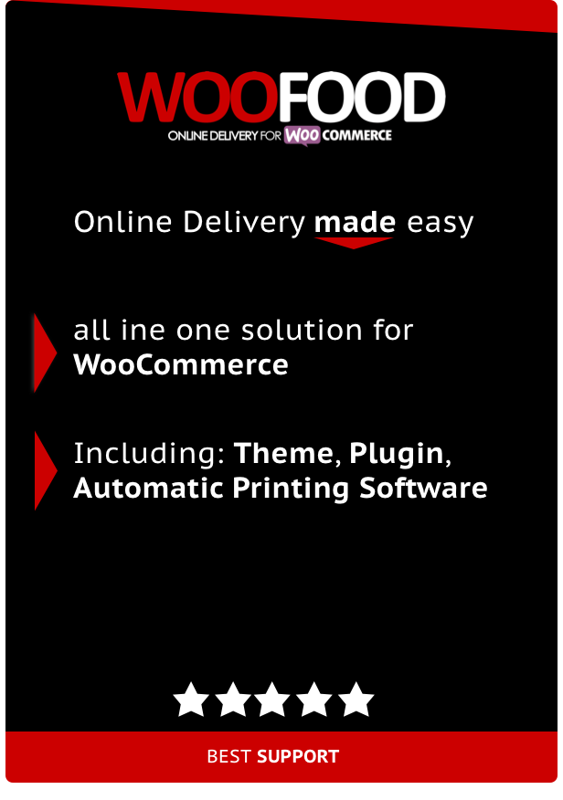 WooFood - Food Delivery Plugin for WooCommerce & Automatic Order Printing - 1