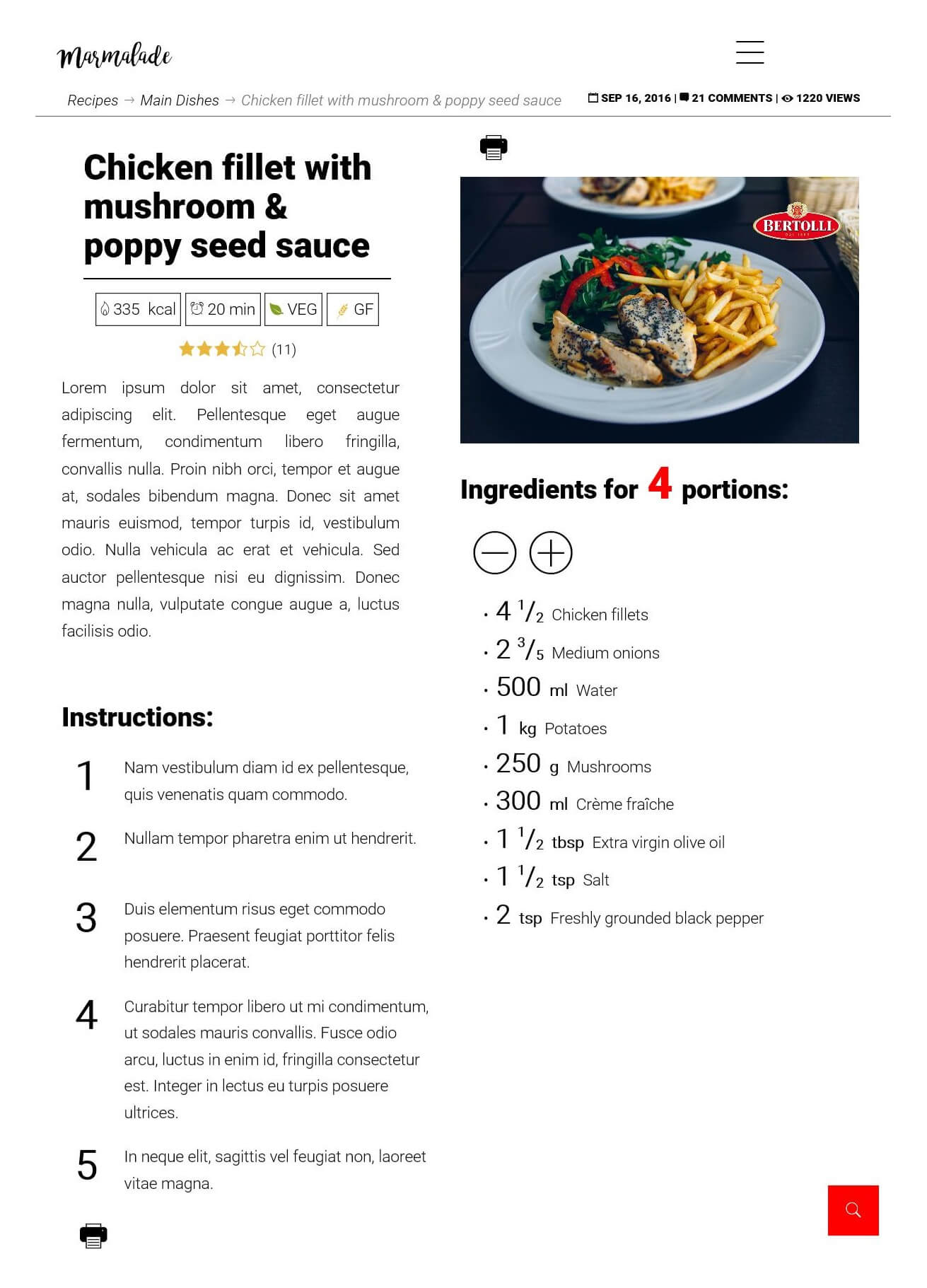 recipe calculator preview food blog
