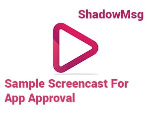 Sample Screencast for ShadowMsg